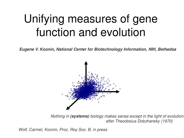 unifying measures of gene function and evolution n.