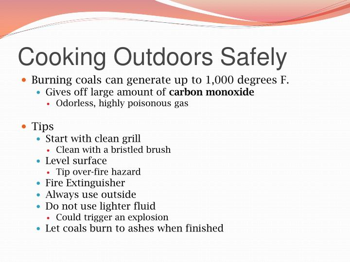 Cooking Outdoors Safely