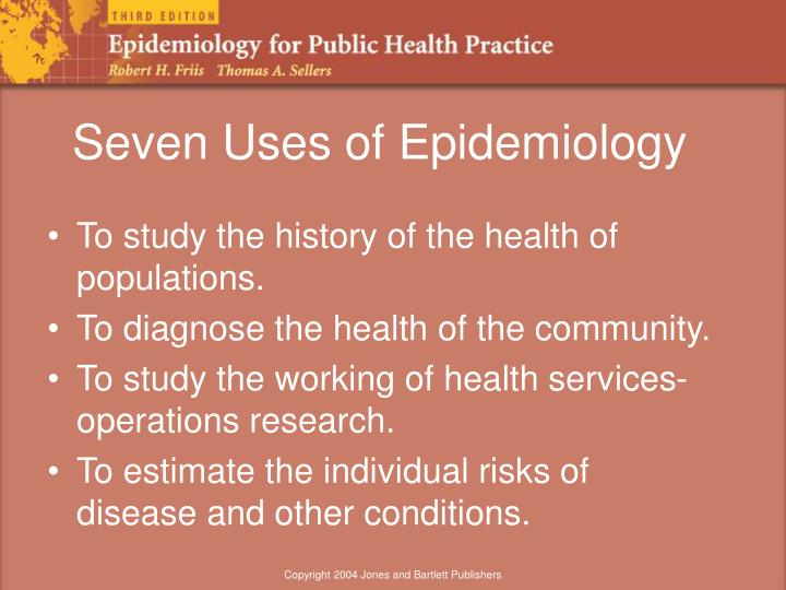 what are the uses of epidemiology