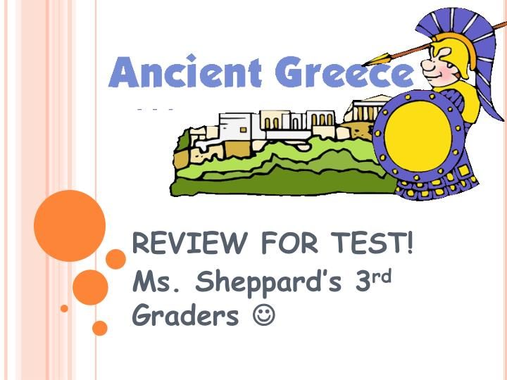 review for test ms sheppard s 3 rd graders n.