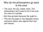 why do the philosophers go back to the cave