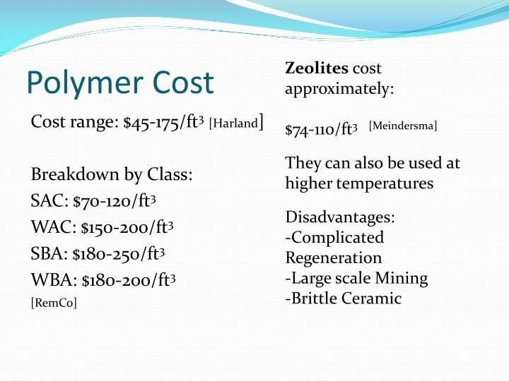 Polymer Cost