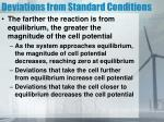 deviations from standard conditions