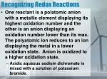 recognizing redox reactions1