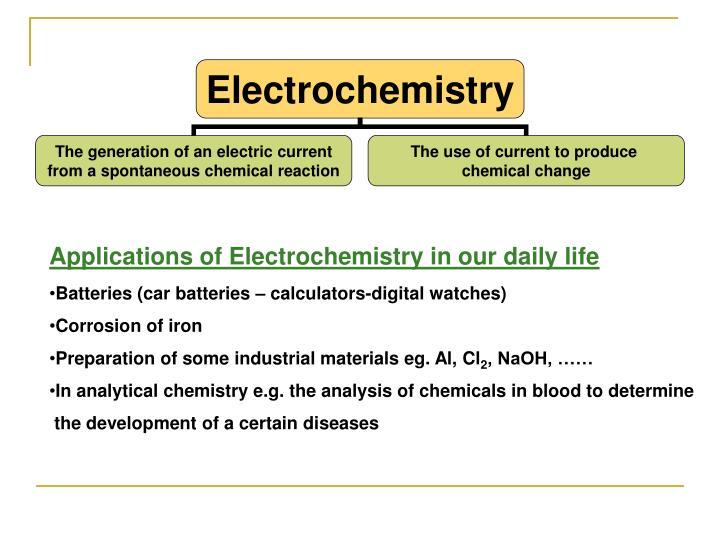 Application of electrochemistry ppt