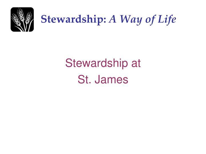 Stewardship a way of life1