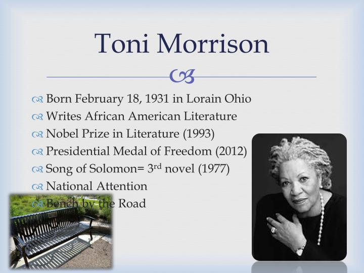 a struggle of a black family in song of solomon by toni morrison Read a free sample or buy song of solomon by toni morrison to the place of his family's origins, morrison introduces an realized black world.