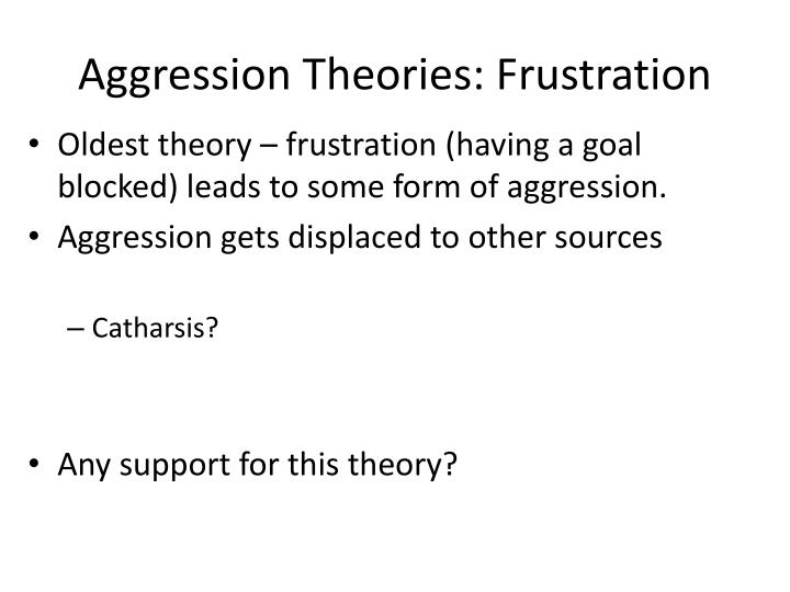 Aggression theories frustration