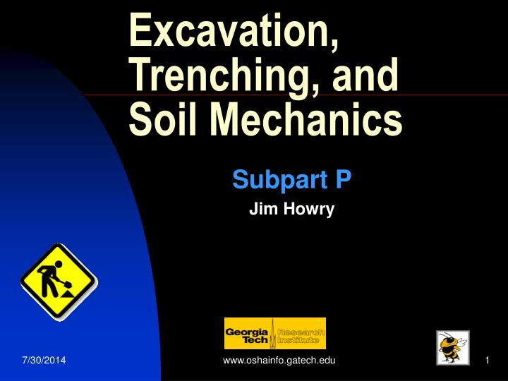 excavation trenching and soil mechanics n.