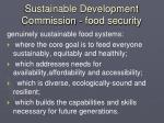 sustainable development commission food security