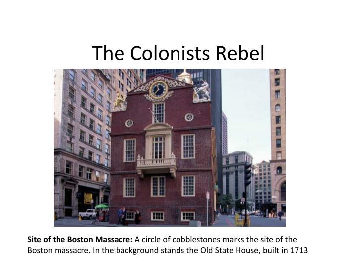 the colonists rebel n.