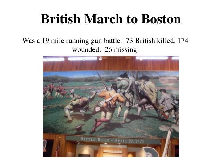 British March to Boston