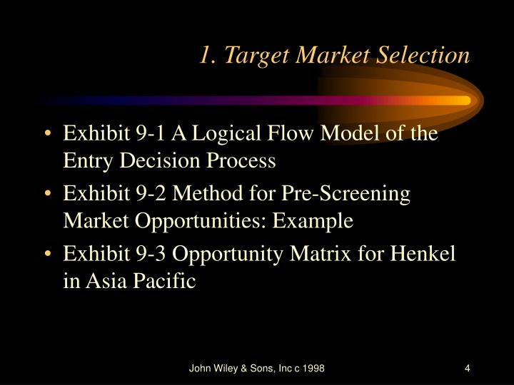 target market selection example
