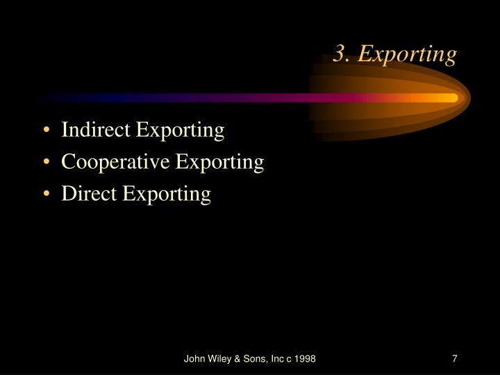 cooperative exporting