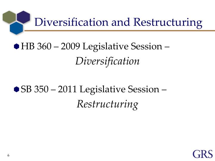 Diversification and Restructuring