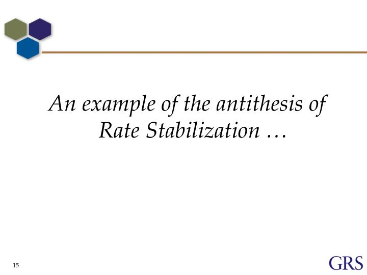 An example of the antithesis of Rate Stabilization …