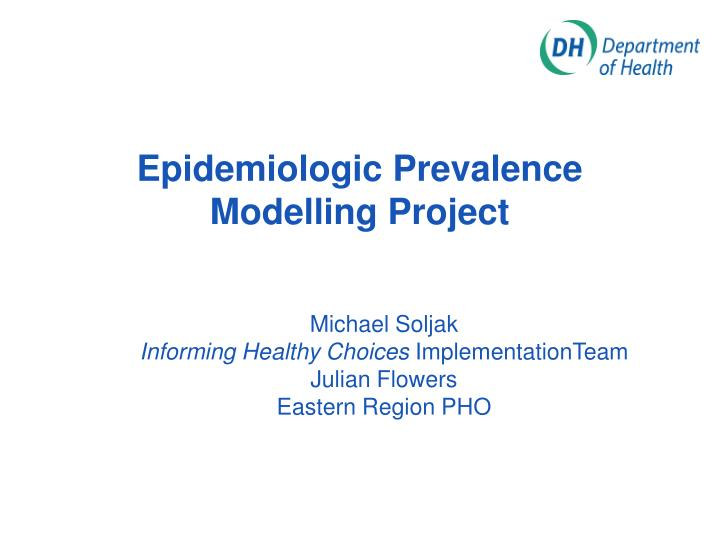 epidemiologic prevalence modelling project n.