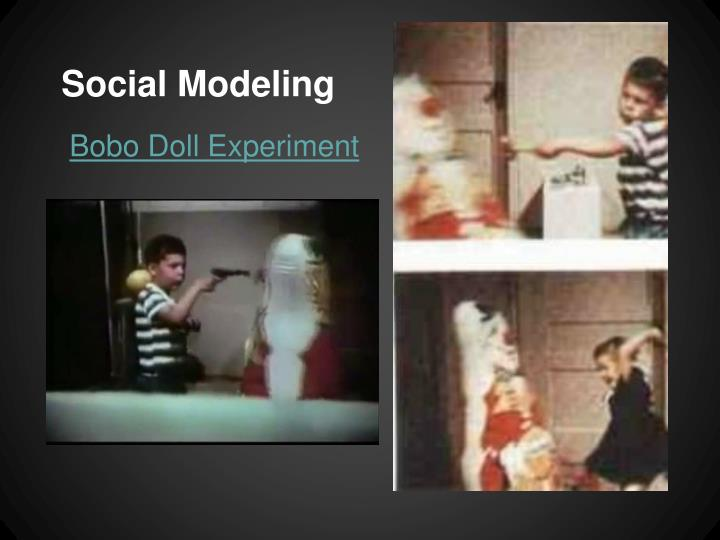 understanding social behaviors and their relationship with observation and imitation in bobo doll ex Children who witnessed nonviolent behavior behaved less aggressively toward the doll bandura concluded that children learn aggression, violence, and other social behaviors through observation.