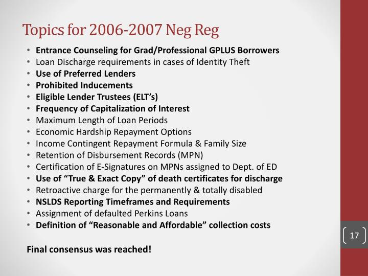 Topics for 2006-2007