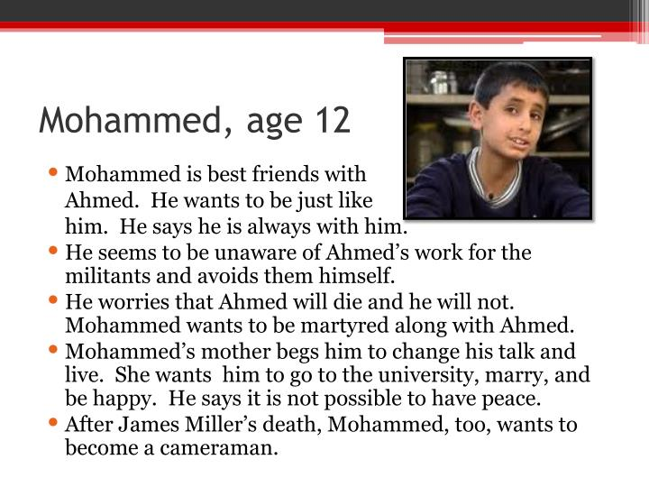Mohammed, age 12