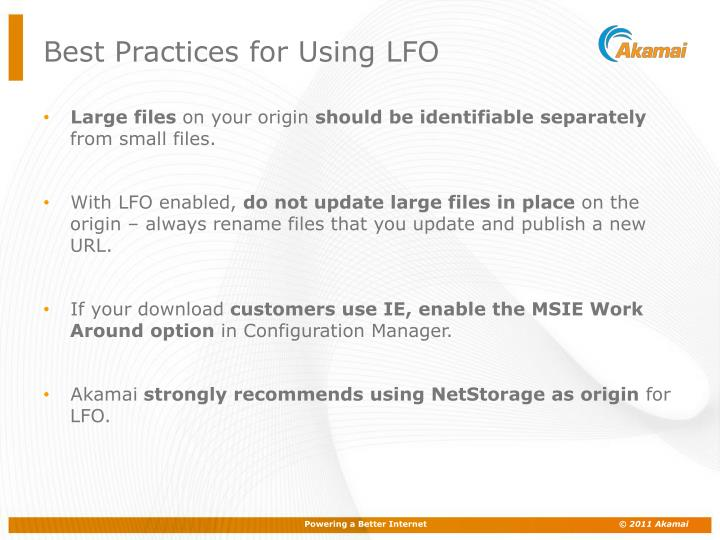 Best Practices for Using LFO