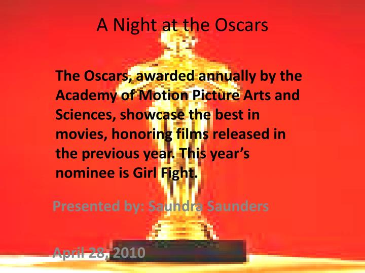 a night at the oscars n.