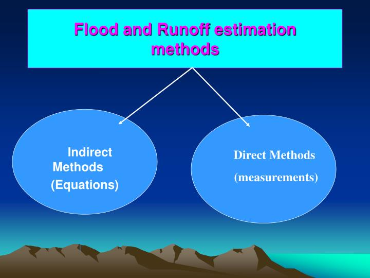 flood and runoff estimation methods n.