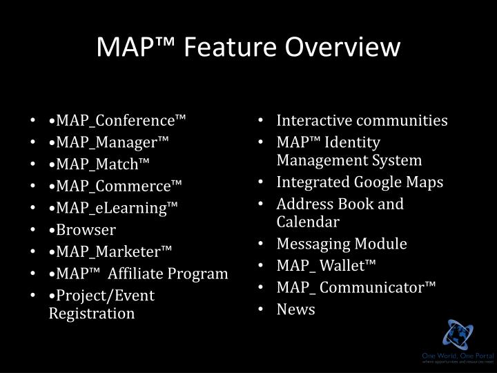 MAP™ Feature Overview