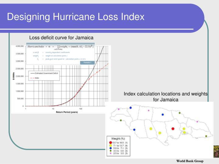 Designing Hurricane Loss Index