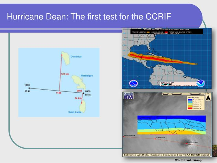 Hurricane Dean: The first test for the CCRIF