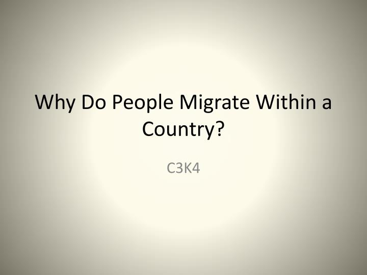 why do people migrate within a country n.