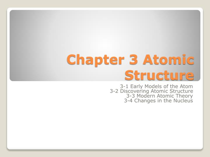 chapter 3 atomic structure n.