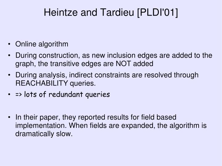 Heintze and Tardieu [PLDI'01