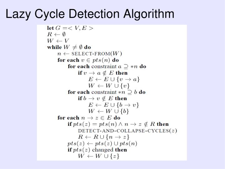 Lazy Cycle Detection Algorithm