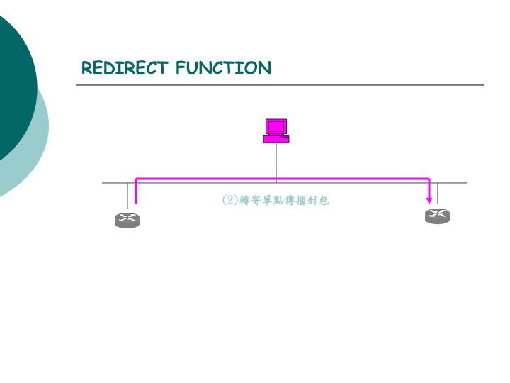 REDIRECT FUNCTION