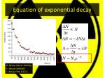 equation of exponential decay