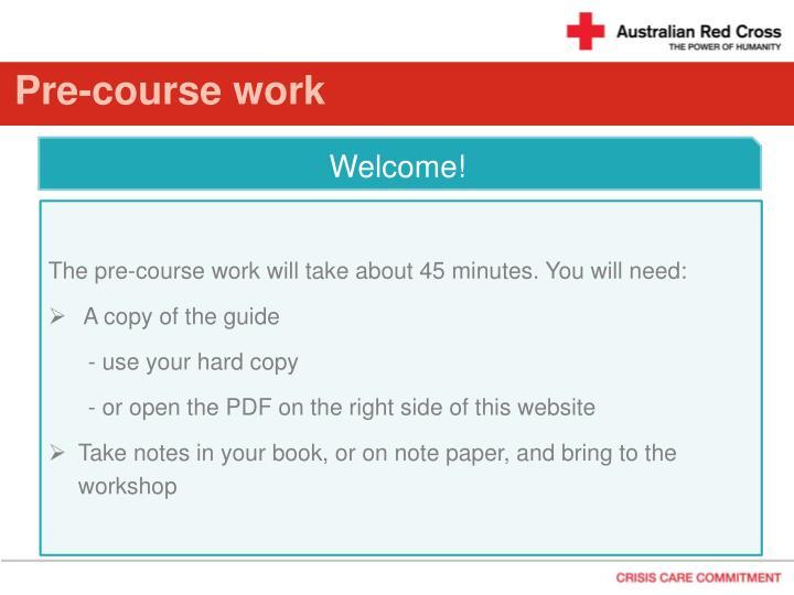 Pre course work