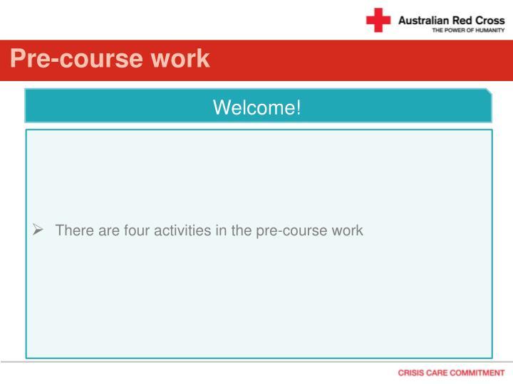 Pre course work1