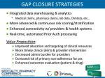 gap closure strategies