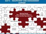 gap ii insufficient care management support