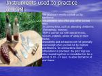 instruments used to practice of fgm