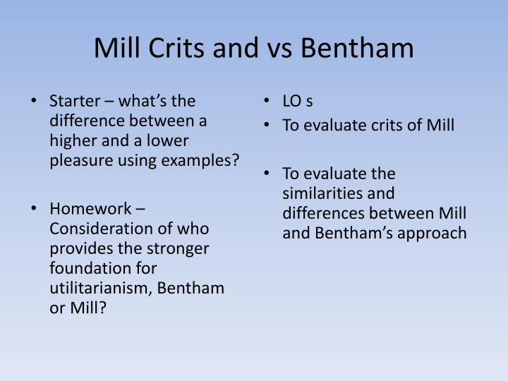 similarities between bentham and mill