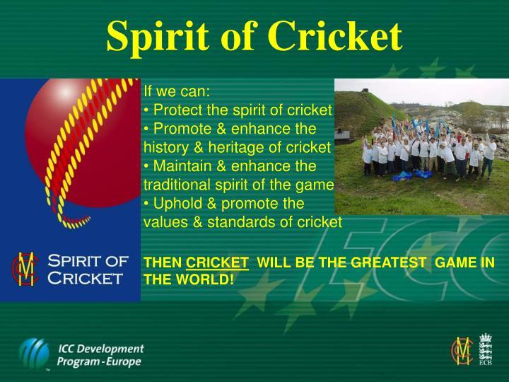 Spirit of Cricket