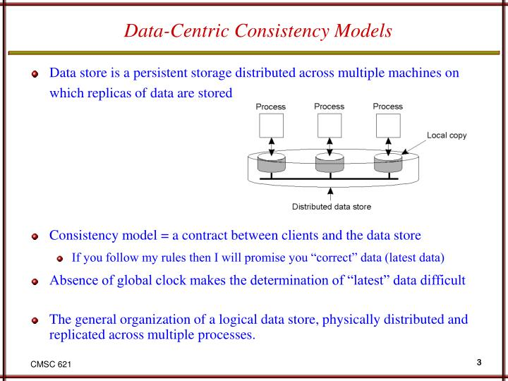 Data centric consistency models
