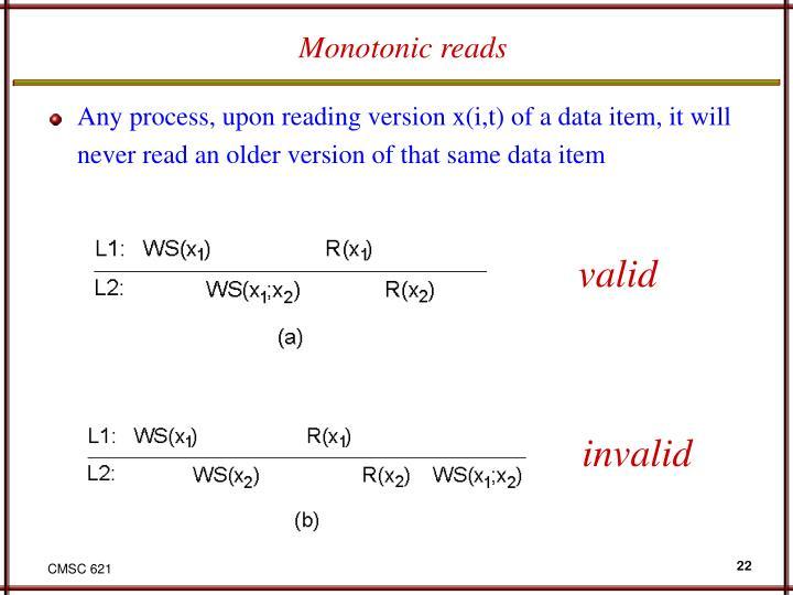 Monotonic reads