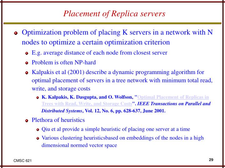 Placement of Replica servers