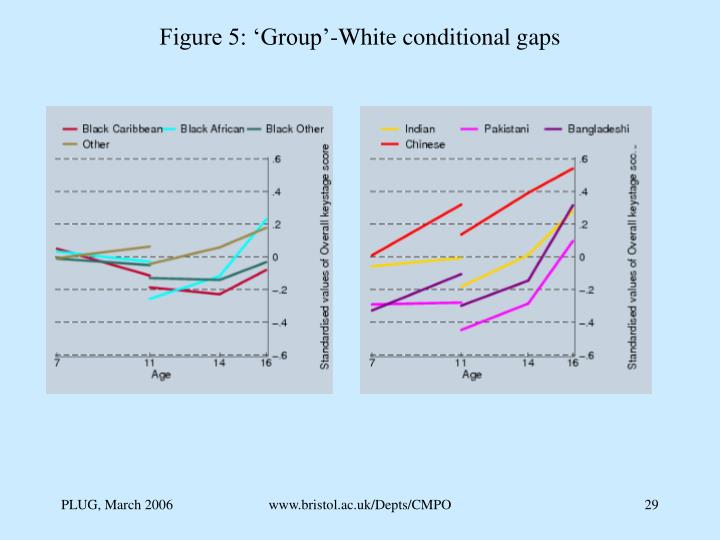 Figure 5: 'Group'-White conditional gaps
