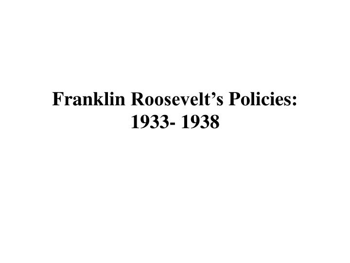 analysis of franklin d roosevelts first inaugural address essay Rhetorical analysis speech franklin d roosevelt inaugural address franklin d roosevelt herbert hoover small wonder that confidence languishes for it thrives on honesty on honor, on the sacredness of obligations, on faithful protection, on unselfish performance.