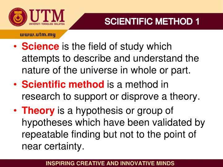 SCIENTIFIC METHOD 1