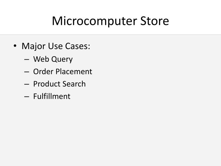 Microcomputer store